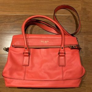 Kate Spade Fold Over Bag - Peach